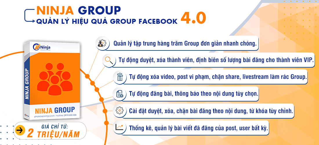 phần mềm quản lý group facebook tự động