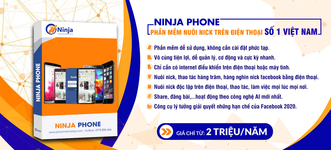 Phần mềm nuôi nick điện thoại thông minh Ninja Phone